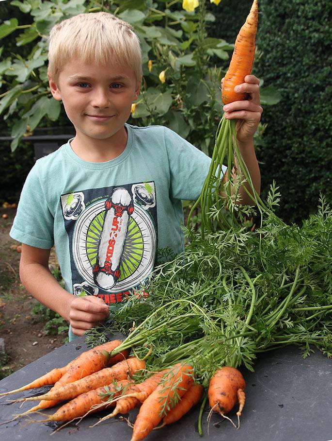 Kan man ikke næsten se, at Magnus kan lide at gnave gulerødder?