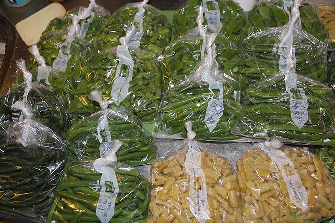 Bønnerne blev pakket i frostposer i passende portioner til 2 personer.