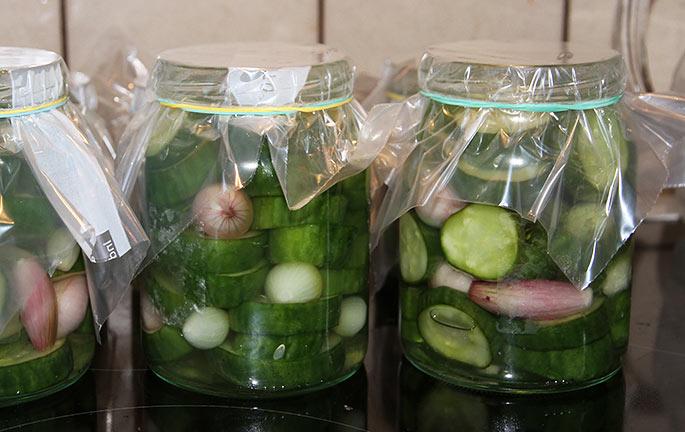 Polske agurker på glas.