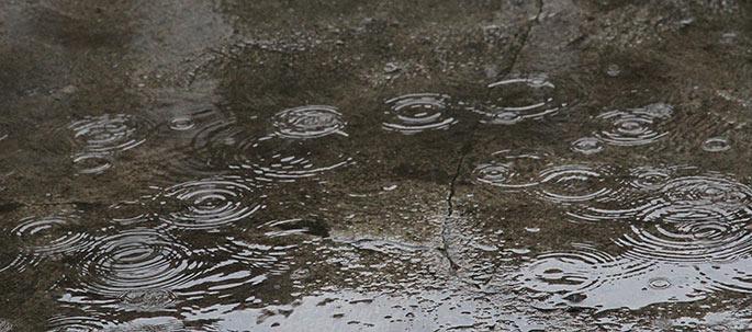 Efter 3 minutter stilnede regnen af.