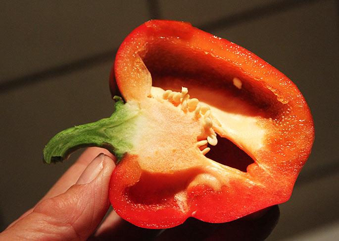 California Wonder er en god, tykvægget peberfrugt.