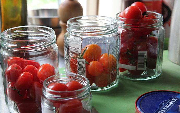 Godt modne tomater fra de bedste planter er udvalgt til frø.