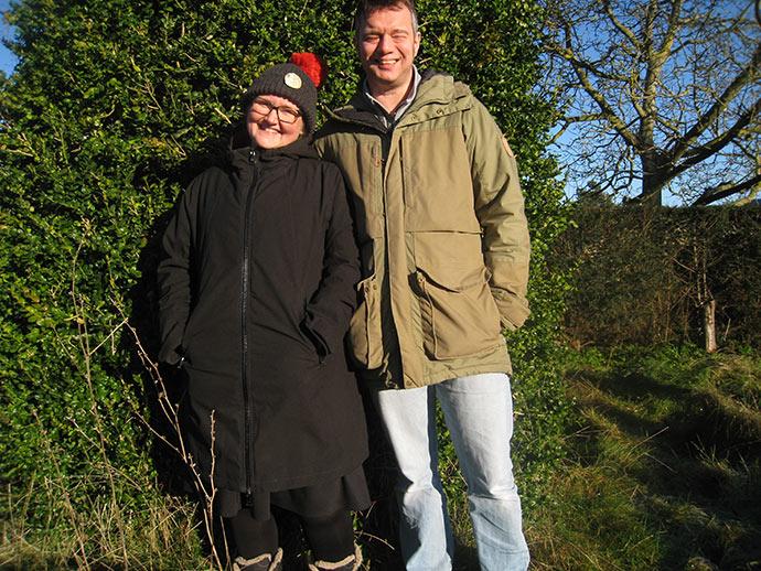Sigsimund tog også et billede af sin far og mor, da de kom for at hente ham hjem til Valby.